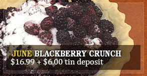 pie of the month - June Blackberry Crunch
